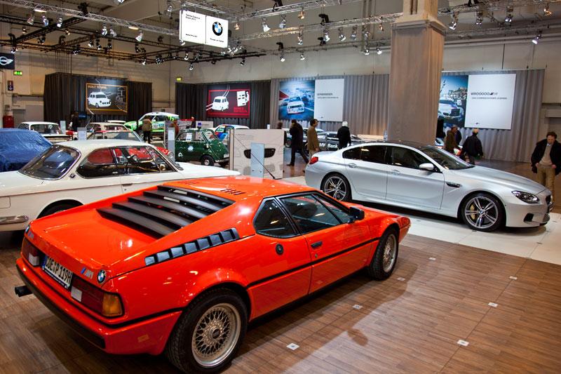 BMW M1 aus dem Jahr 1980 auf dem BMW Group Messestand, Techno Classica 2013