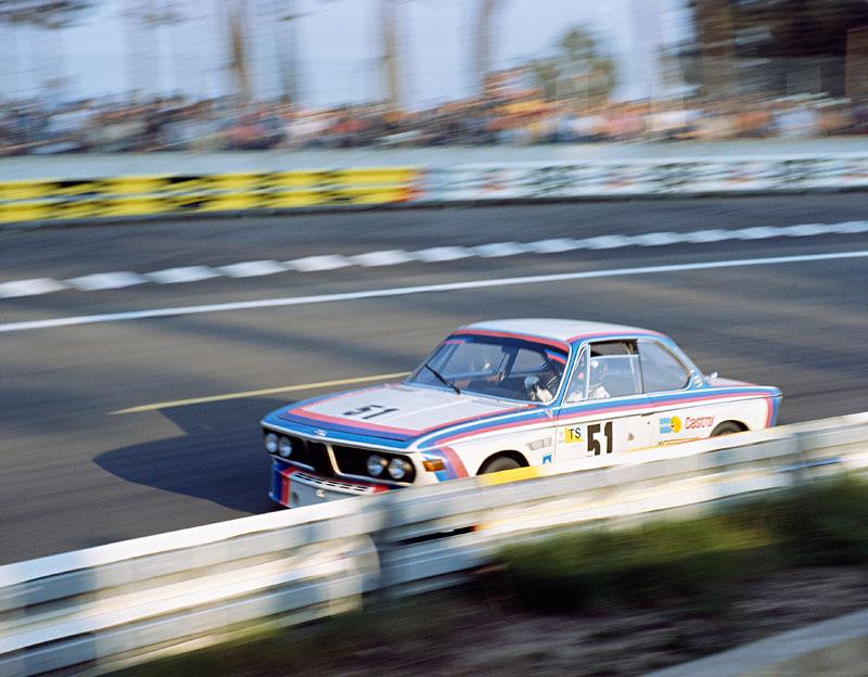 Hezemans/Quester im BMW 3.0 CSL beim 24-Stunden-Rennen in Le Mans 1973
