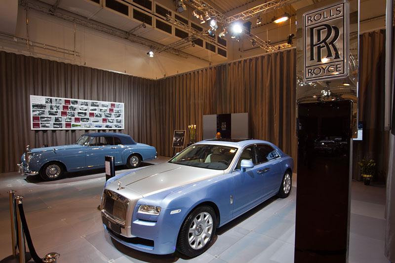 Rolls-Roye auf der Techno Classica 2013 mit dem Ghost (vorne) und dem Silver Cloud