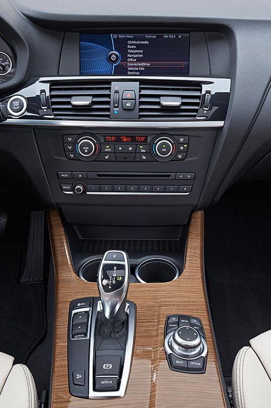 BMW X3, 2. Generation, Modell F25, Interieur, Mittelkonsole