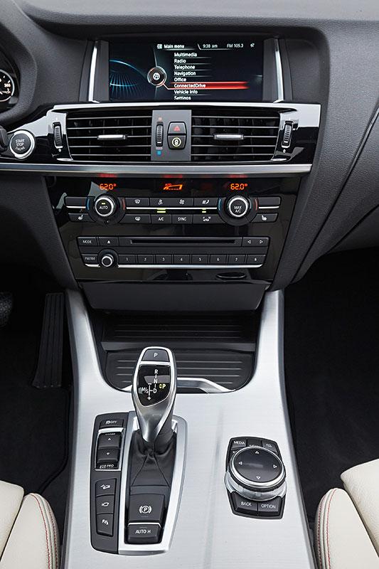 BMW X4, 1. Generation, Modell F26, Interieur, Mittelkonsole