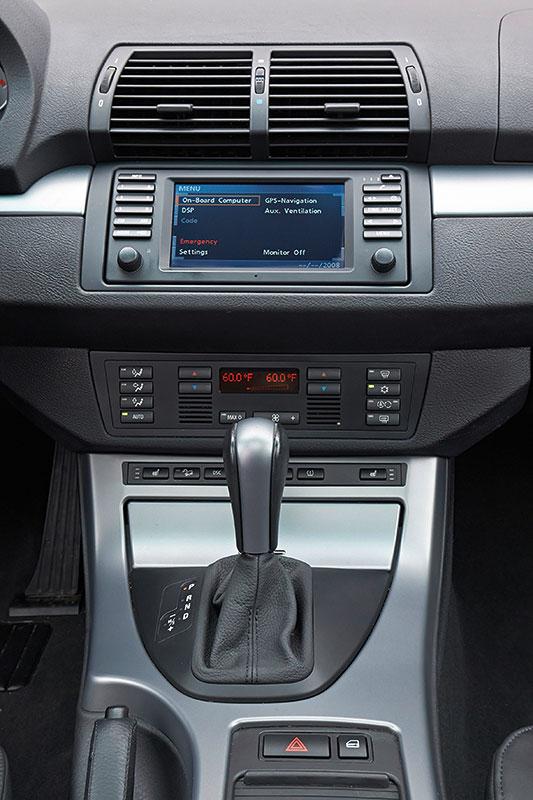 BMW X5, 1. Generation, Modell E53, Interieur, Mittelkonsole
