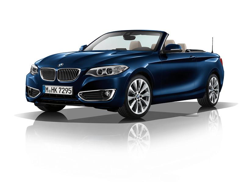 BMW 2er Cabrio, Modell Luxury, Tiefseeblau metallic
