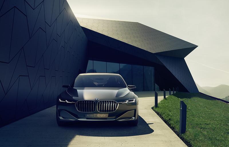 BMW Vision Future Luxury mit intelligenten Leichtbaukonzept.