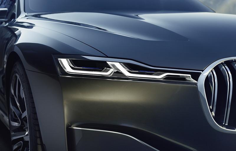 BMW Vision Future Luxury. BMW Laserlicht in der Frontpartie.