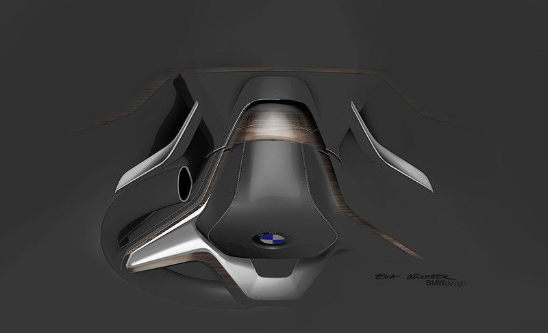 BMW Vision Future Luxury. Skizze. Detail. Interieur.