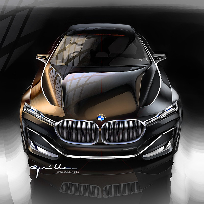 BMW Vision Future Luxury. Skizze. Exterieur.
