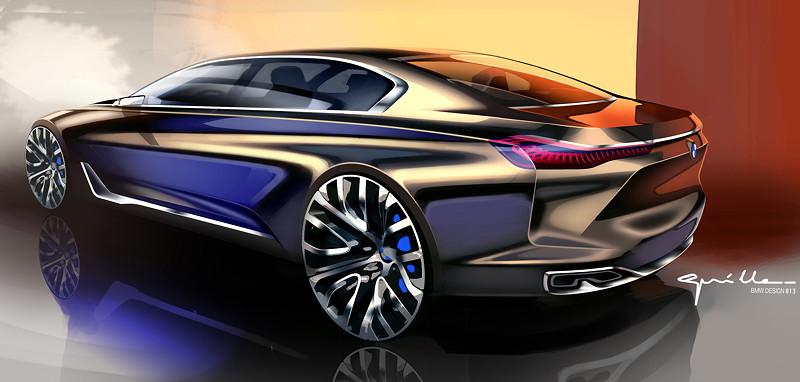 BMW Vision Future Luxury. Skizze. Exterieur.