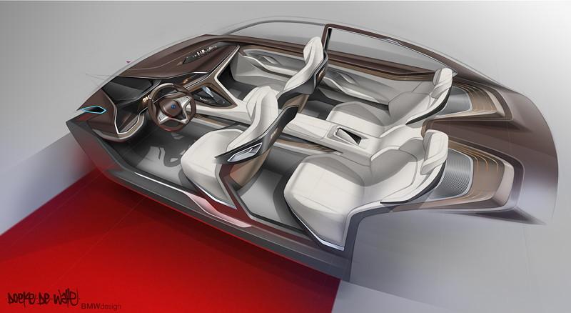 BMW Vision Future Luxury. Skizze. Interieur.