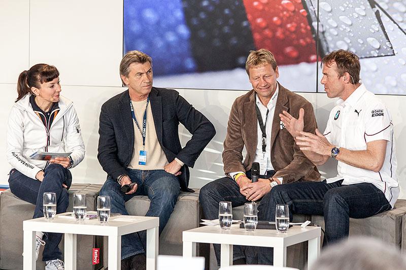 Fussball-Weltmeister von 1990 Klaus Augenthaler und Guido Buchwald zu Gast in der BMW Guest Hospitality