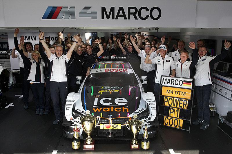 BMW Team MTEK feiert den Sieg am Hockenheimring