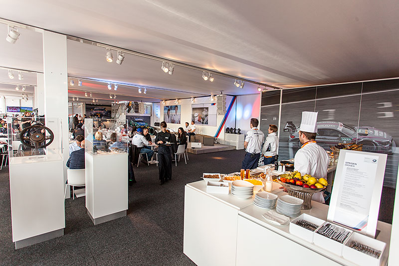 BMW Guest Hospitality am Hockenheimring, Catering
