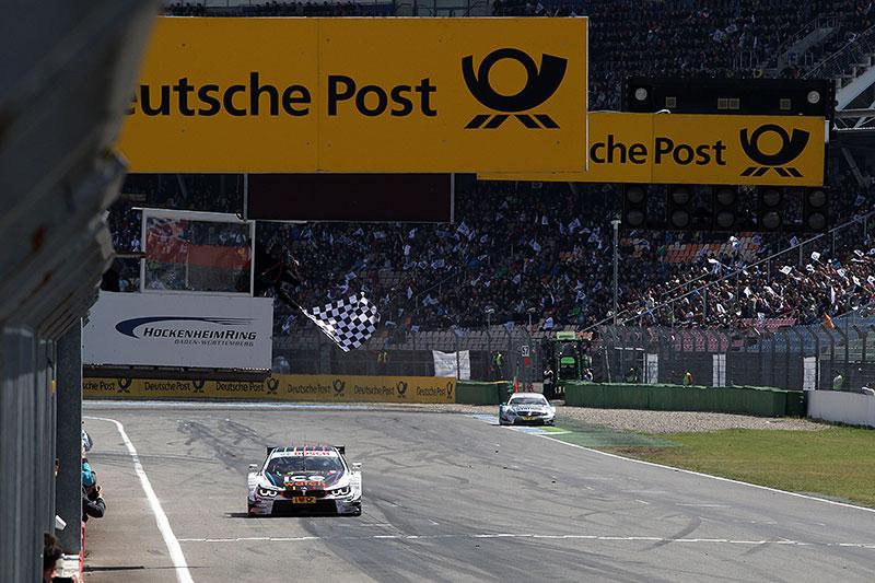 Marco Wittmann überquerte als erstes die Zielgerade am Hockenheimring 2014