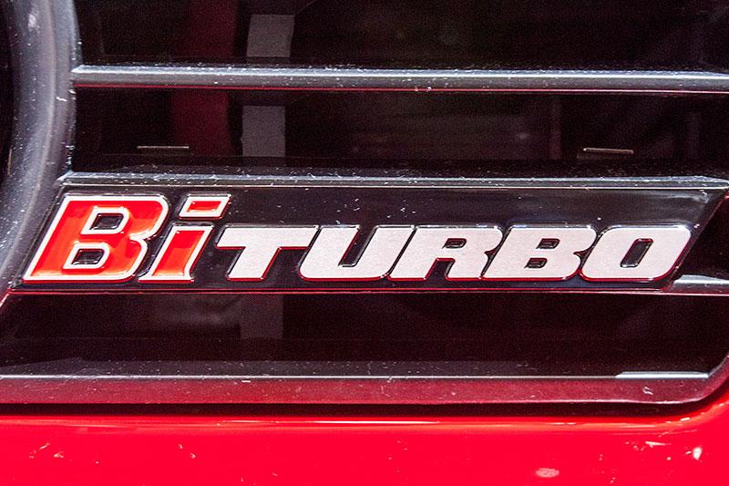 Alpina B10 Bi-Turbo, Typ-Bezeichnung im Kühlergrill