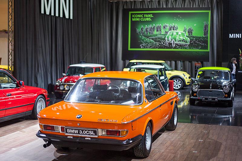 BMW 3.0 CSL ausgestellt vom BMW CSL Owners Club e.V., Techno Classica 2014 in Essen