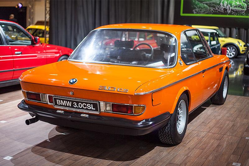 BMW 3.0 CSL mit 6-Zylinder-Reihenmotor, 180 PS bei 6.000 U/Min.
