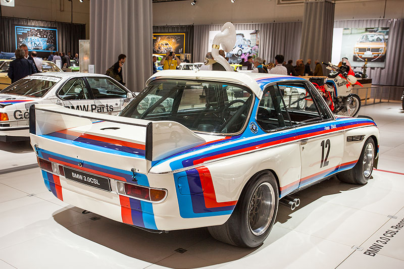 BMW 3.0 CSL Rennsport Coupé, 6-Zyllinder Reihenmotor mit 430 PS bei 8.500 U/Min.