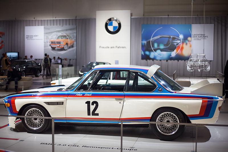 BMW 3.0 CSL Rennsport Coupé, ausgestellt von BMW Classic, Techno Classica 2014