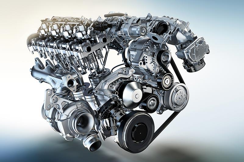 Foto Der Neue Bmw Twinpower Turbo 4 Zylinder Dieselmotor