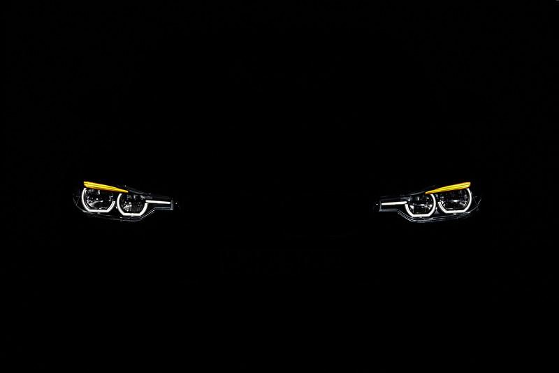 BMW 3er Reihe, Facelift 2015, Modell 340i, Sport Line, Standlicht und Blinker vorne
