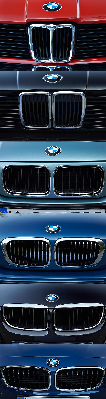 6 Generationen BMW 3er, BMW Nieren