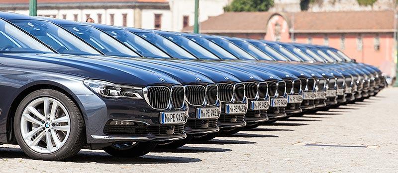 BMW 7er-Reihe in Porto: BMW 750Li xDrive und BMW 730d Limousinen