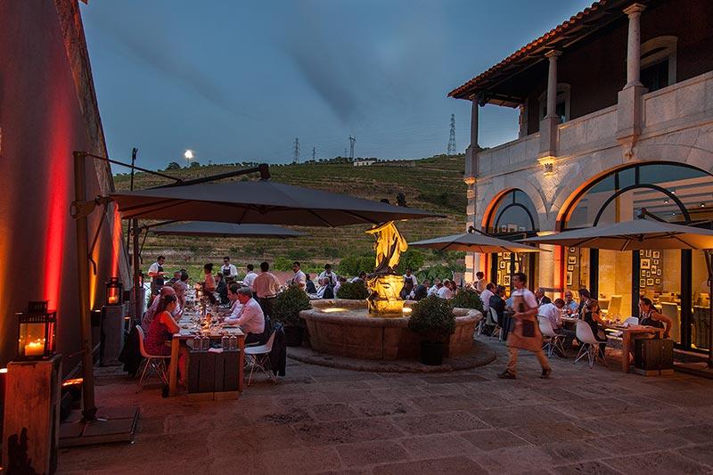 Abendessen im Six Senses Douro Valley Hotel
