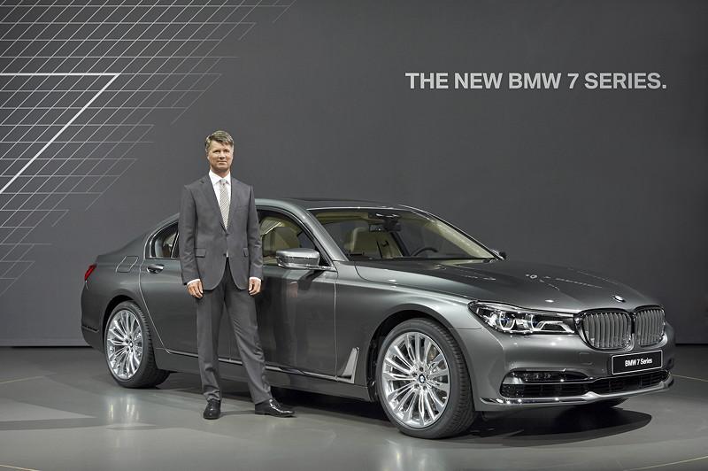 Premiere des neuen 7er-BMWs (G11) am 10.06.2015 in der BMW Welt, mit Harald Krüger, BMW Vorstandsvorsitzender