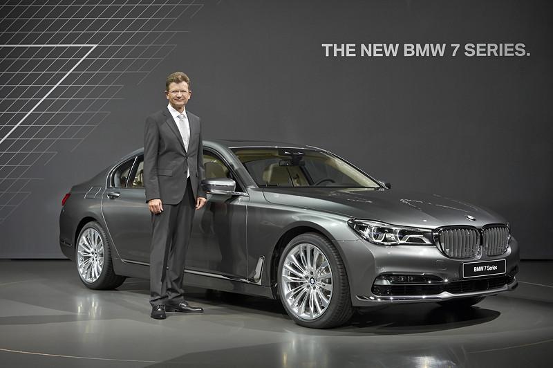 Premiere des neuen 7er-BMWs (G11) am 10.06.2015 in der BMW Welt, mit Klaus Fröhlich, BMW Vorstand Entwicklung