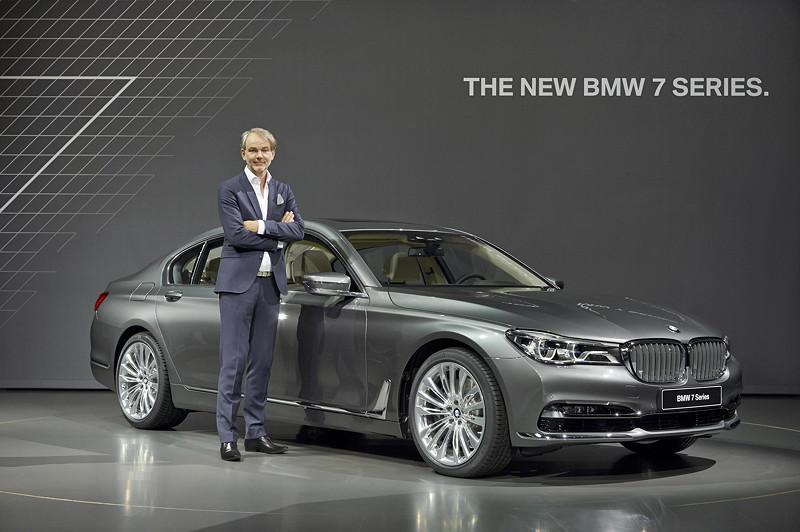 Premiere des neuen 7er-BMWs (G11) am 10.06.2015 in der BMW Welt, mit Designchef Adrian van Hooydonk