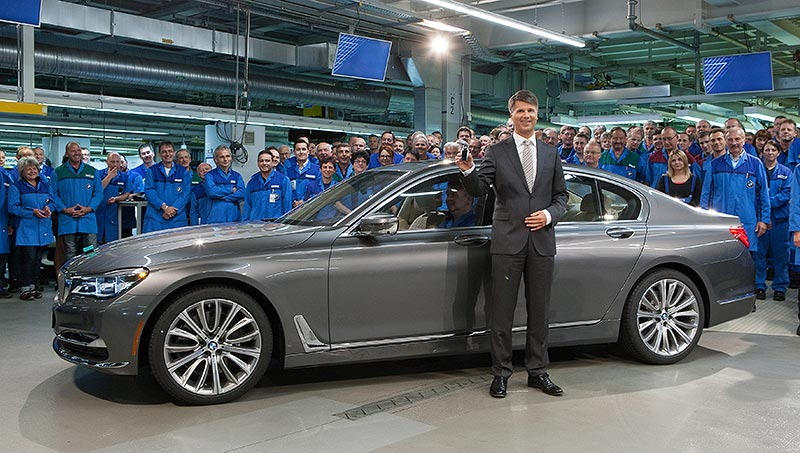Produktionsstart der neuen BMW 7er Reihe im Werk Dingolfing - Harald Krüger, Vorsitzender des Vorstands der BMW AG