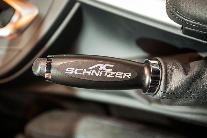AC Schnitzer ACS 3 3.0i, Handbremsgriff mit AC Schnitzer Logo