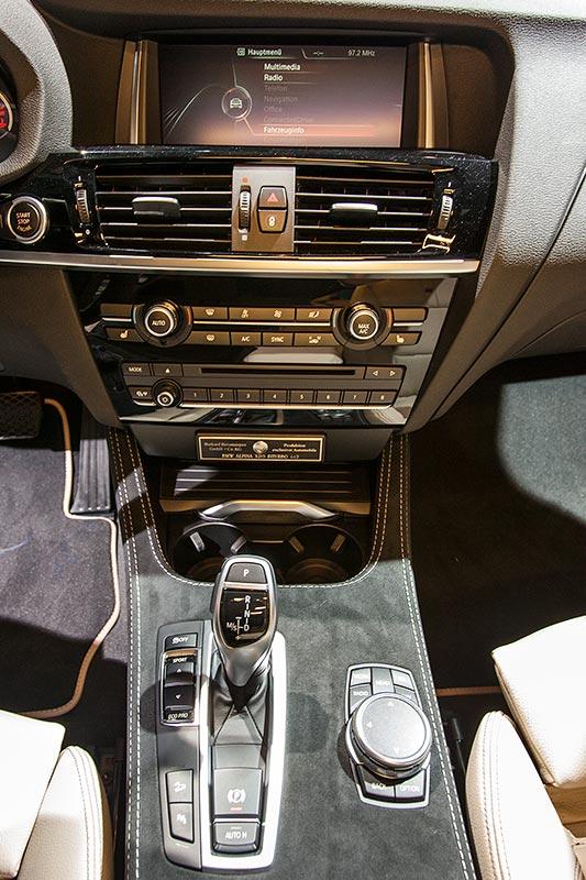 IAA 2015: Alpina XD3 BiTurbo, Mittelkonsole