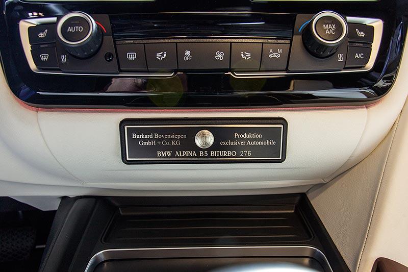 IAA 2015: Alpina B3 BiTurbo, Typschild mit Serien-Nummer