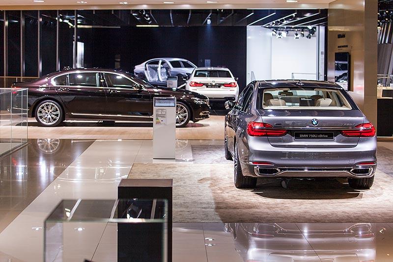 BMW 7er Ausstellung auf dem BMW Messestand, IAA 2015