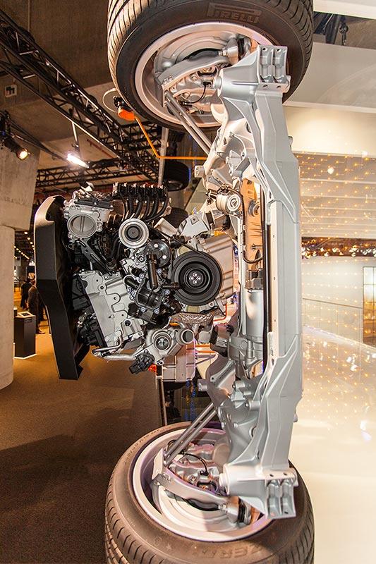 BMW 740Le mit PlugIn-Hybrid, Technisches Modell, Vorderachse