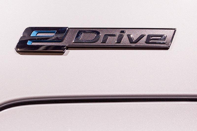 BMW 740Le mit PlugIn-Hybrid, eDrive Schriftzug