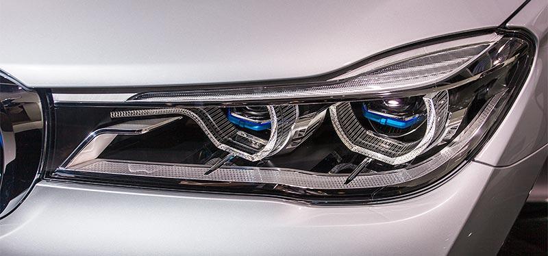 BMW 740Le mit PlugIn-Hybrid, Laserlicht