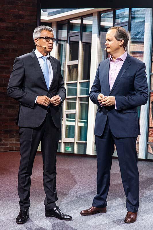 Peter Schwarzenbauer und Sebastian Mackensen, MINI Pressekonferenz, IAA 2015