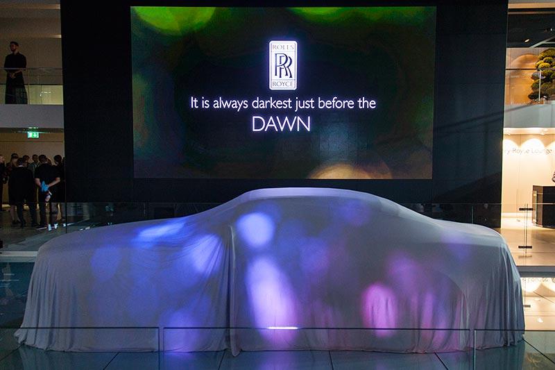 Rolls-Royce Dawn kurz vor seiner Weltpremiere auf der IAA 2015