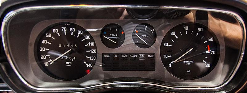 BMW 3.0 Si, Tacho-Instrumente