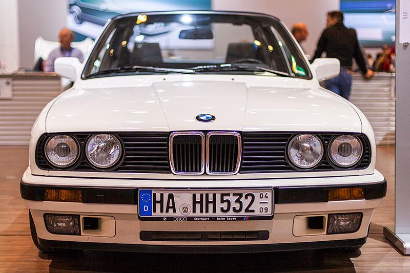 BMW 320i Baur Topcabriolet, Baujahr 1987, ausgestellt vom Baur TC Club e.V.