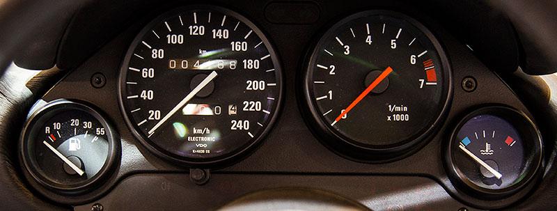 BMW Z1, Tacho-Instrumente