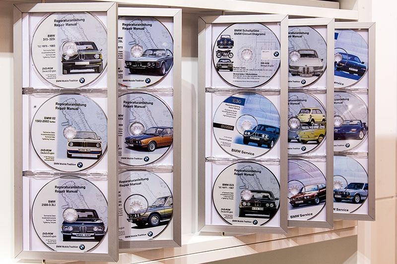 original BMW Reparaturanleitungen auf DVD
