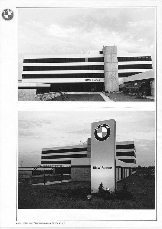 BMW Vertriebstöchter. BMW France, 1973