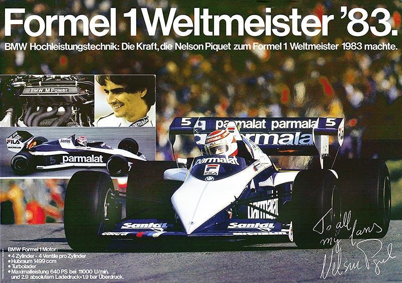 Die Geschichte der BMW Group: 100 Jahre Faszination für Mobilität. Formel 1 Weltmeister 1983