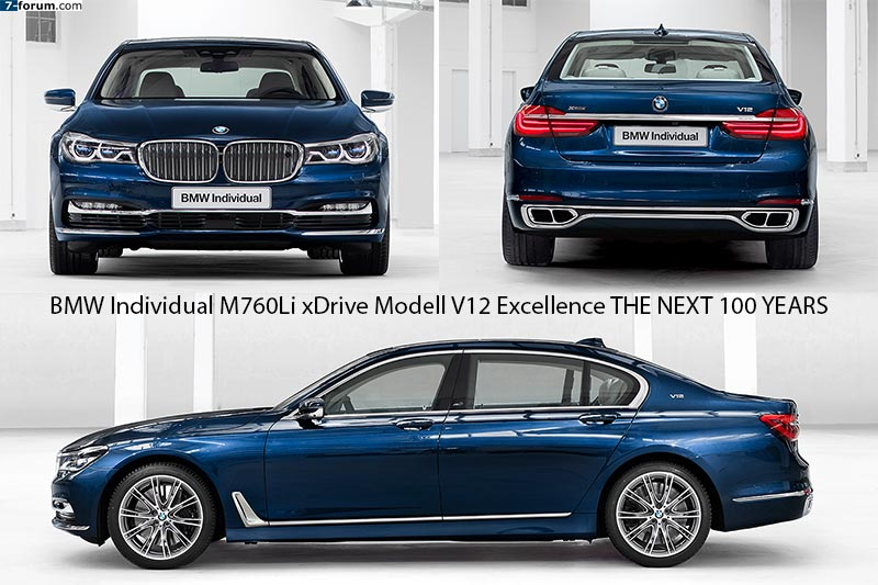 BMW Individual M760Li xDrive Modell V12 Excellence THE NEXT 100 YEARS