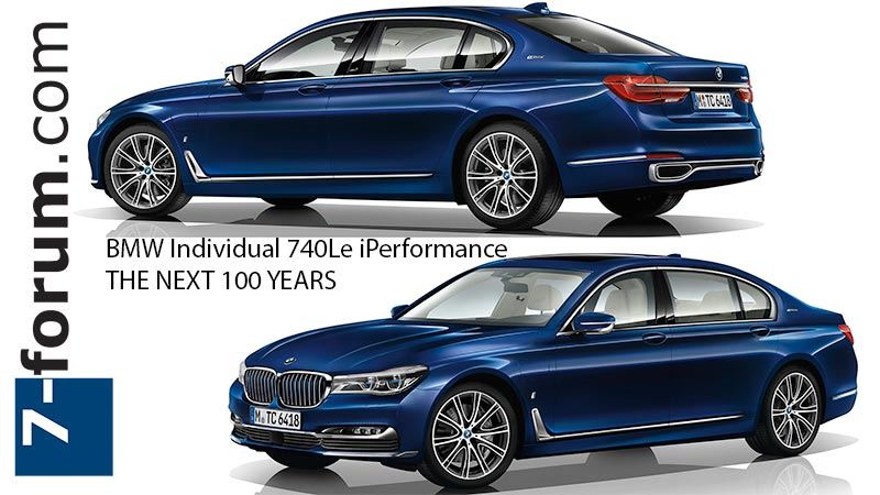 BMW Individual 740Le iPerformance THE NEXT 100 YEARS