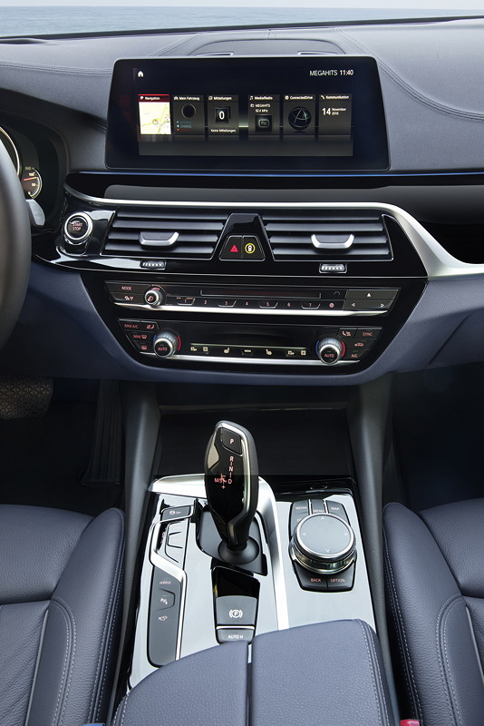 BMW 530e iPerformance, Mittelkonsole