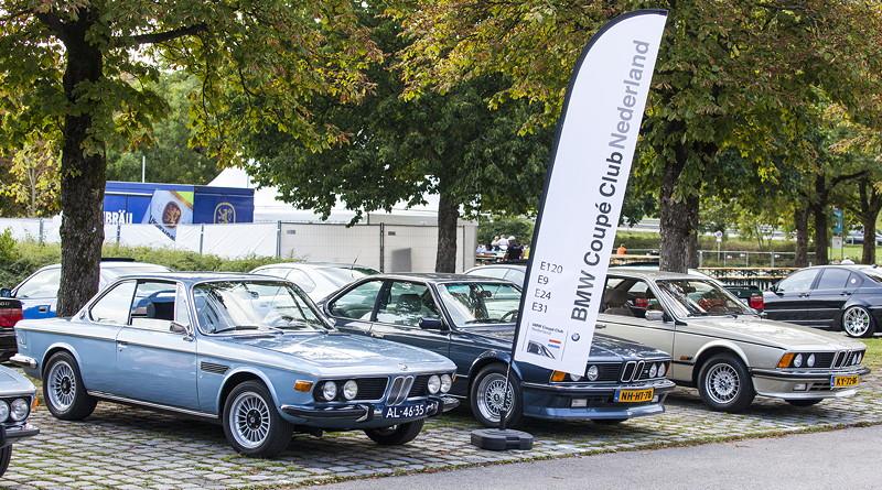 BMW Clubs in der Parkhafe im Olympiapark: BMW Coupé Club Niederlande